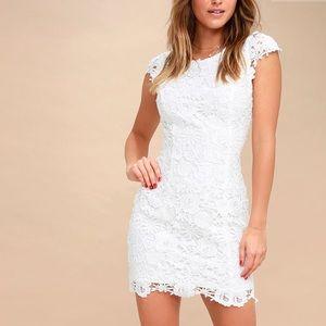 Lulu*s White Lace Dress